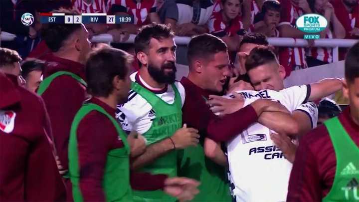 Suárez marcó el segundo de River