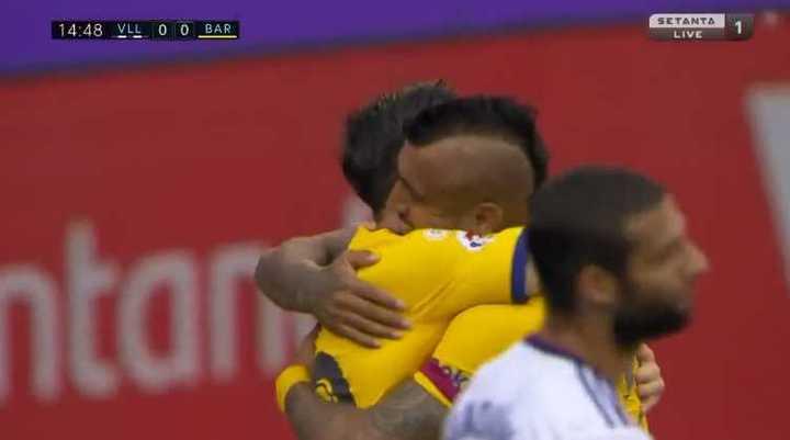 Vidal marcó el primero de Barcelona