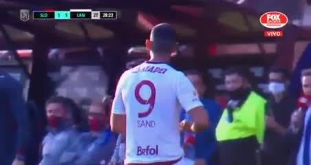 Sand salió reemplazado vs. San Lorenzo y explotó contra Zubeldía