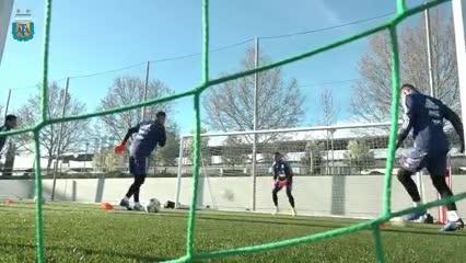 La práctica de la Selección en Madrid