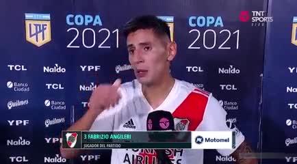 Angileri le dedicó su gol a su papá