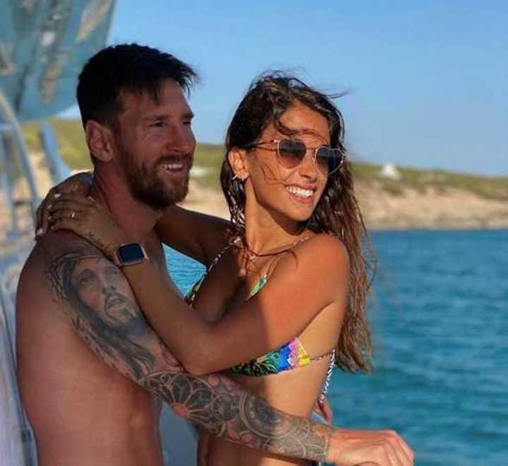 Messi y varios en las playas