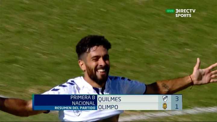 Quilmes goleó a Olimpo y se salvó de descender