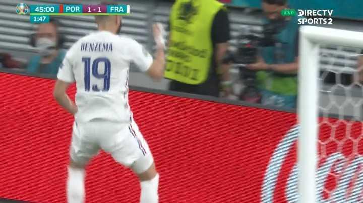 Benzemá lo empató para Francia