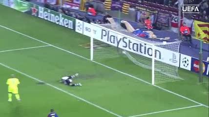 El golazo de Messi al Lyon en el 2009