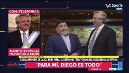 El presidente y su relación con Maradona
