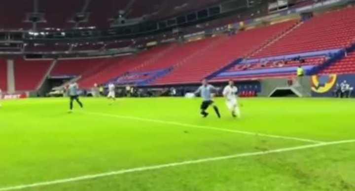 Messi subió el gol a Uruguay con sonido ambiente