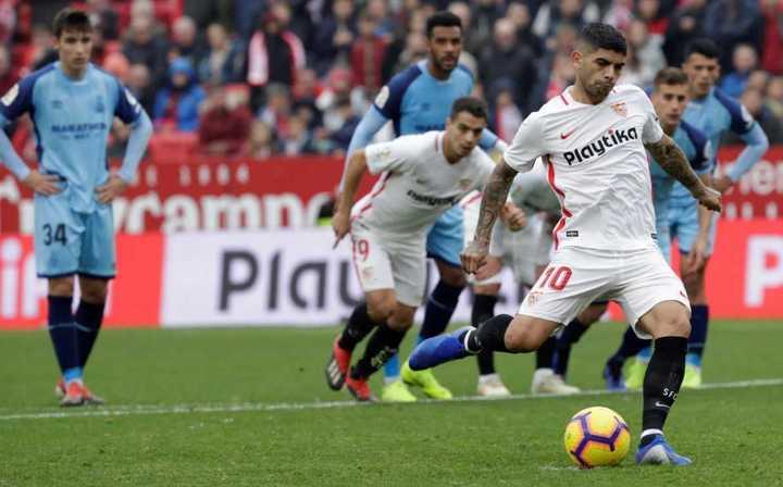 El gol de Banega para Sevilla