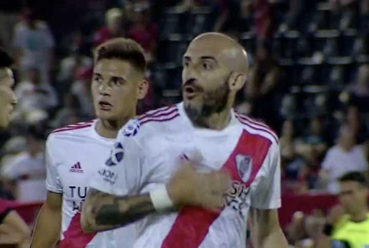 El gesto de Pinola cuando terminó el partido