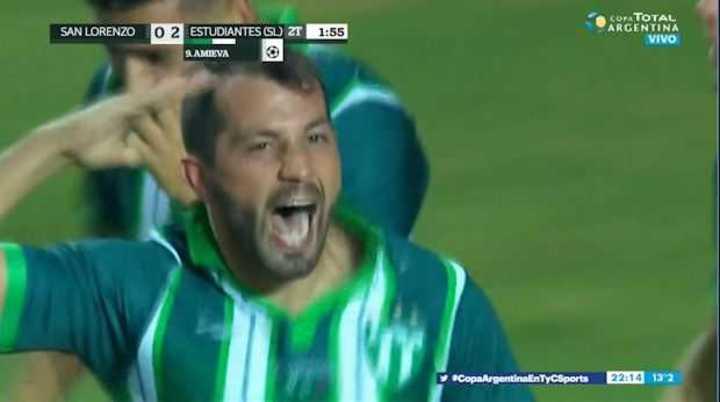 Estudiantes de San Luis le gana 2 a 0 a San Lorenzo