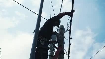 Así cortaron la conexión ilegal del predio de Tigre