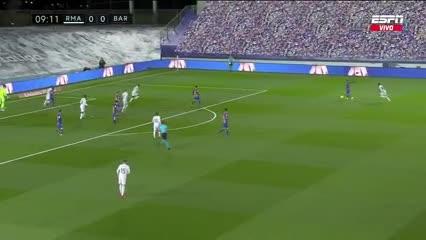 El Barcelona estuvo cerca de romper el cero