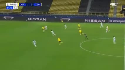 Haaland anotó para Borussia Dortmund