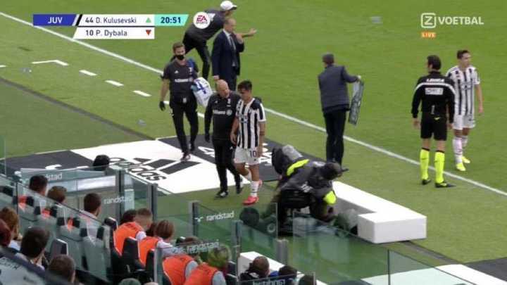 La lesión y el llanto de Dybala tras su lesión
