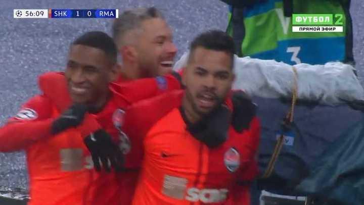 Real Madrid perdió 2 a 0 con Shakhtar