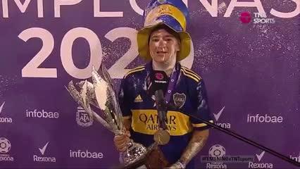 Yamila Rodríguez habló tras el título de Boca