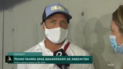 Pedro Ibarra será el abanderado de Argentina