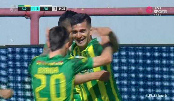 Maciel marcó el 1 a 0 de Aldosivi