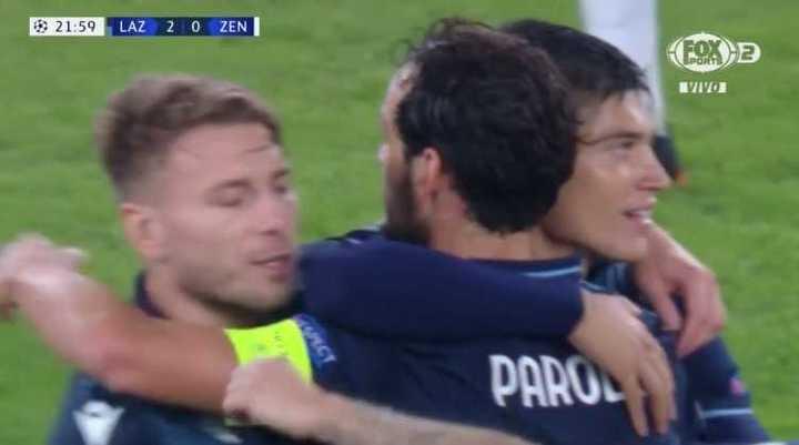 Correa asistió en el 2 a 0 de la Lazio