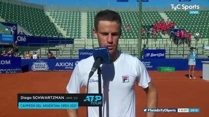 Las declaraciones de Schwartzman tras ganar el Argentina Open