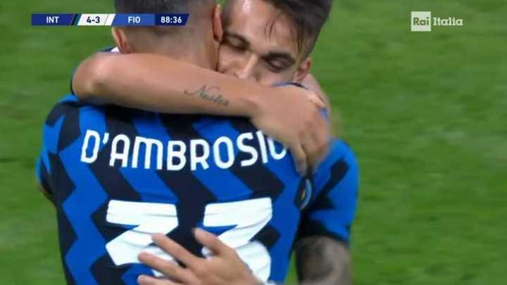 Inter derrotó 4 a 3 a Fiorentina