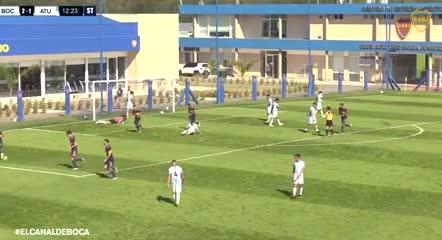 Gol de Luis Vázquez en la Reserva de Boca