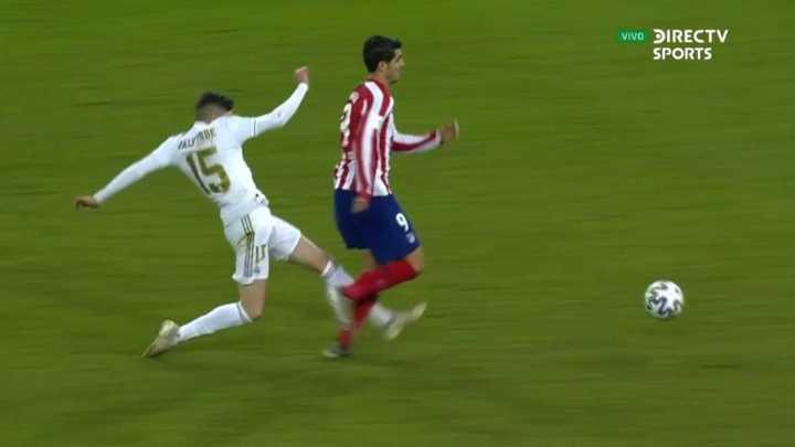 Valverde se fue expulsado