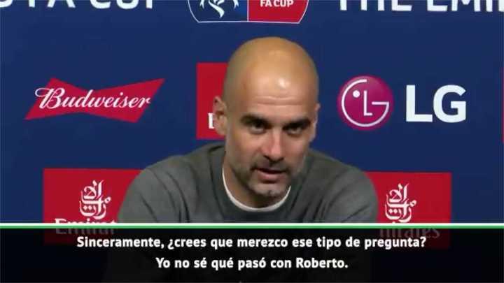 Guardiola se enojó con un periodista