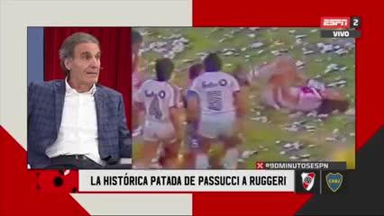 """""""No me hizo nada"""": Ruggeri sobre la patada de Passucci y polémica con Boca"""