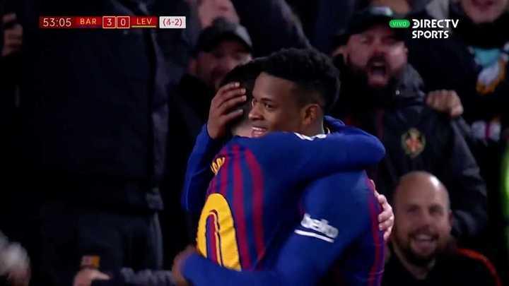 El golazo de Leo en el 3 a 0