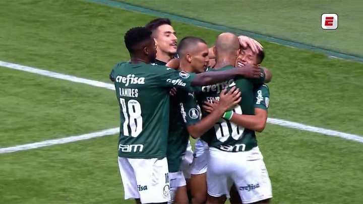 Palmeiras gritó el quinto