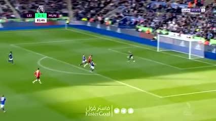 Marcus Rashford y el 2-2 parcial para el Manchester United en Leicester