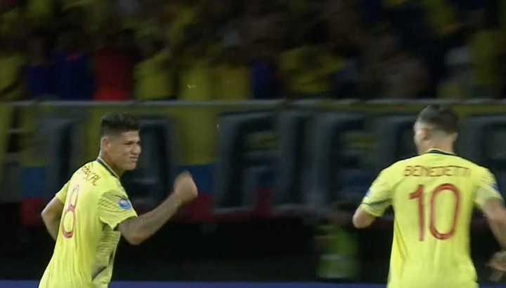 Colombia se puso arriba en el marcador