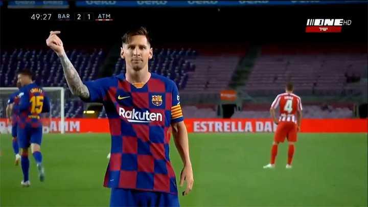 El festejo de Messi por sus 700 goles