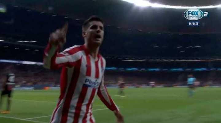 Morata marcó el 1 a 0 del Atlético de Madríd