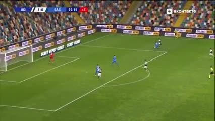 Los goles del triunfo de Udinese ante el Sassuolo