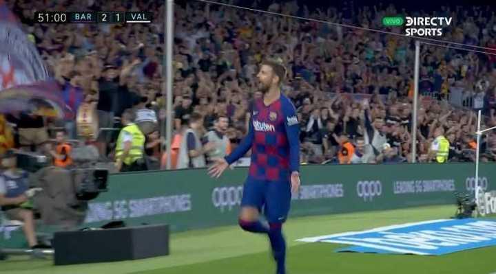 Piqué marcó el tercero de Barcelona