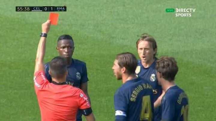 Modric se fue expulsado en el Real Madrid
