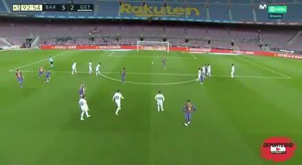 Griezmann le agradeció a Messi por dejarlo patear el penal. Video: Movistar.