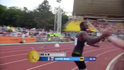 Blake Leeper corre con doble amputación de piernas
