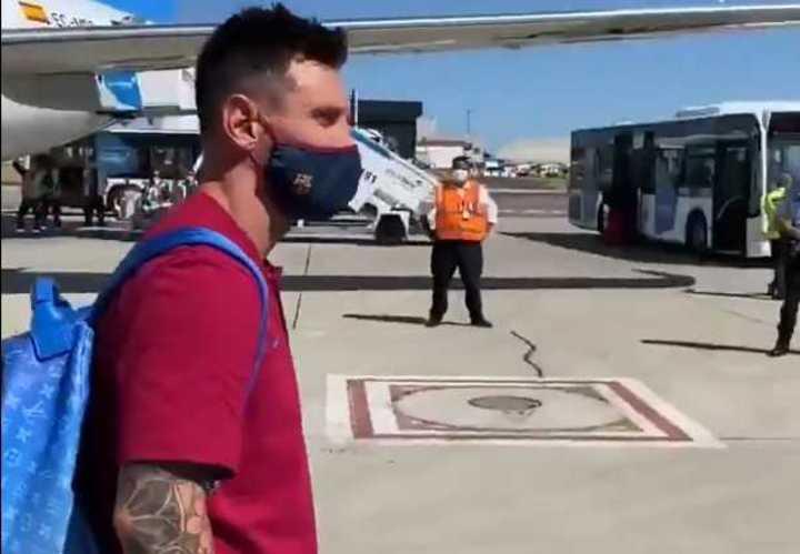Así llegó Messi a Lisboa