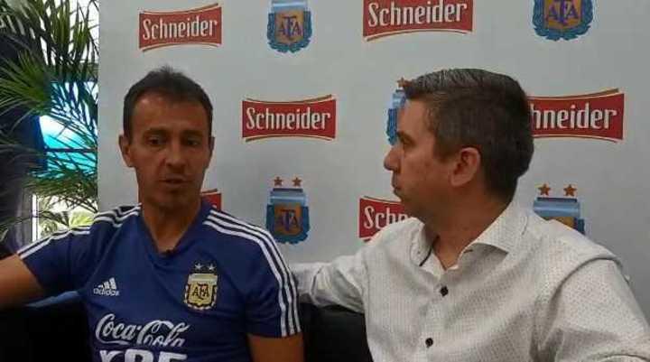 Fernando Batista en diálogo con Olé