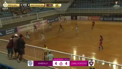 Kimberley igualó 4-4 ante Cerro Porteño