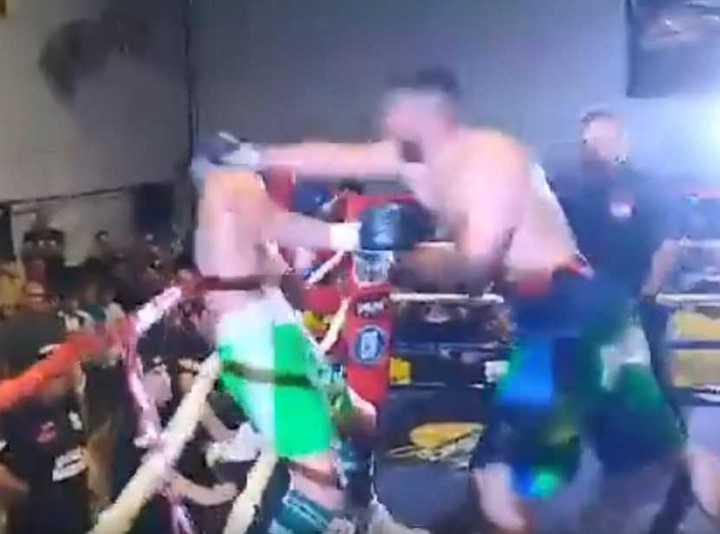 El KO de Zárate a Migliore (Fuente: Cerca del Ring)