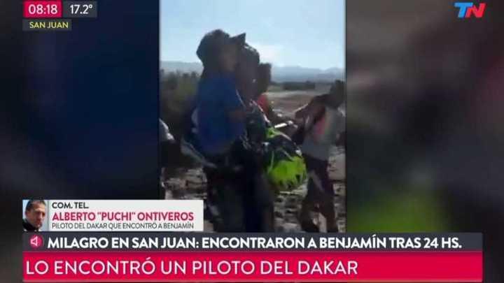 Un motociclista al rescate