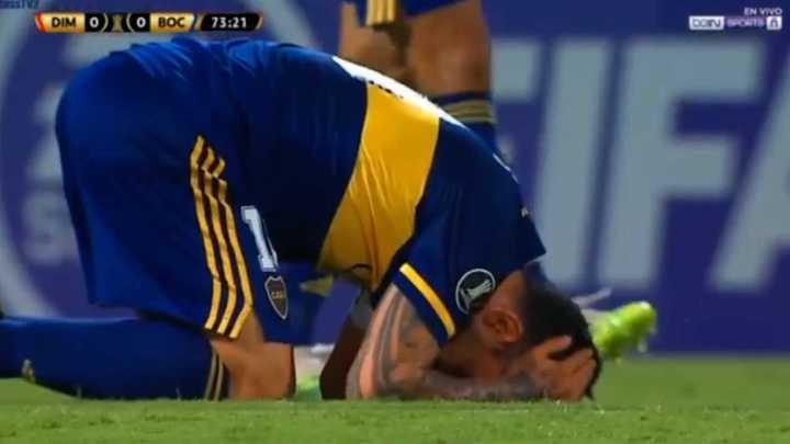 Tevez no pudo marcar el primero de Boca