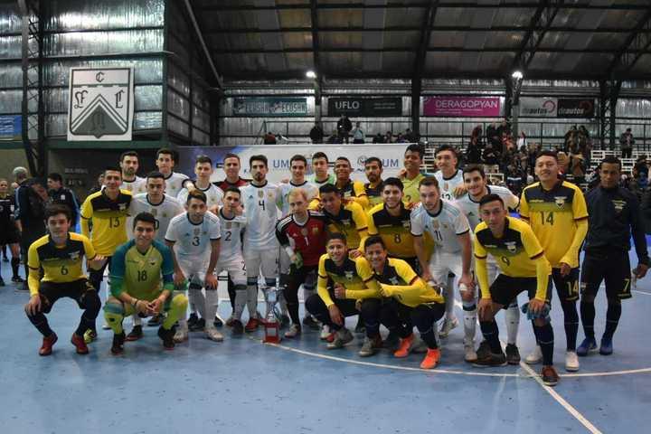 La Argentina le ganó 3-1 a Ecuador