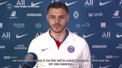 Icardi habló tras el 5-0 ante el Angers