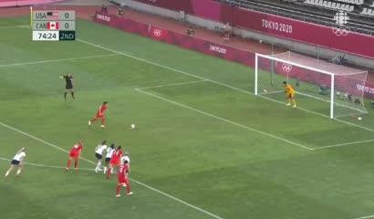 Jessie Fleming marcó el gol del triunfo para Canadá