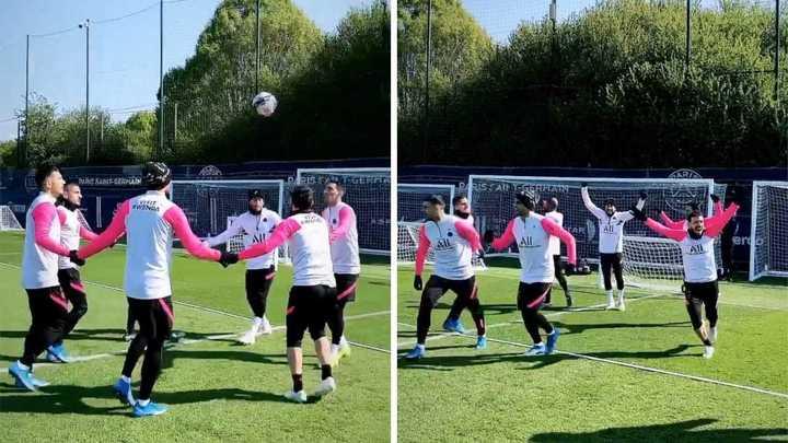 La banda del PSG se divierte a pura fantasía